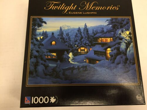 Twilight Memories Christmas In Mountains Jigsaw Puzzle (1000-Piece)