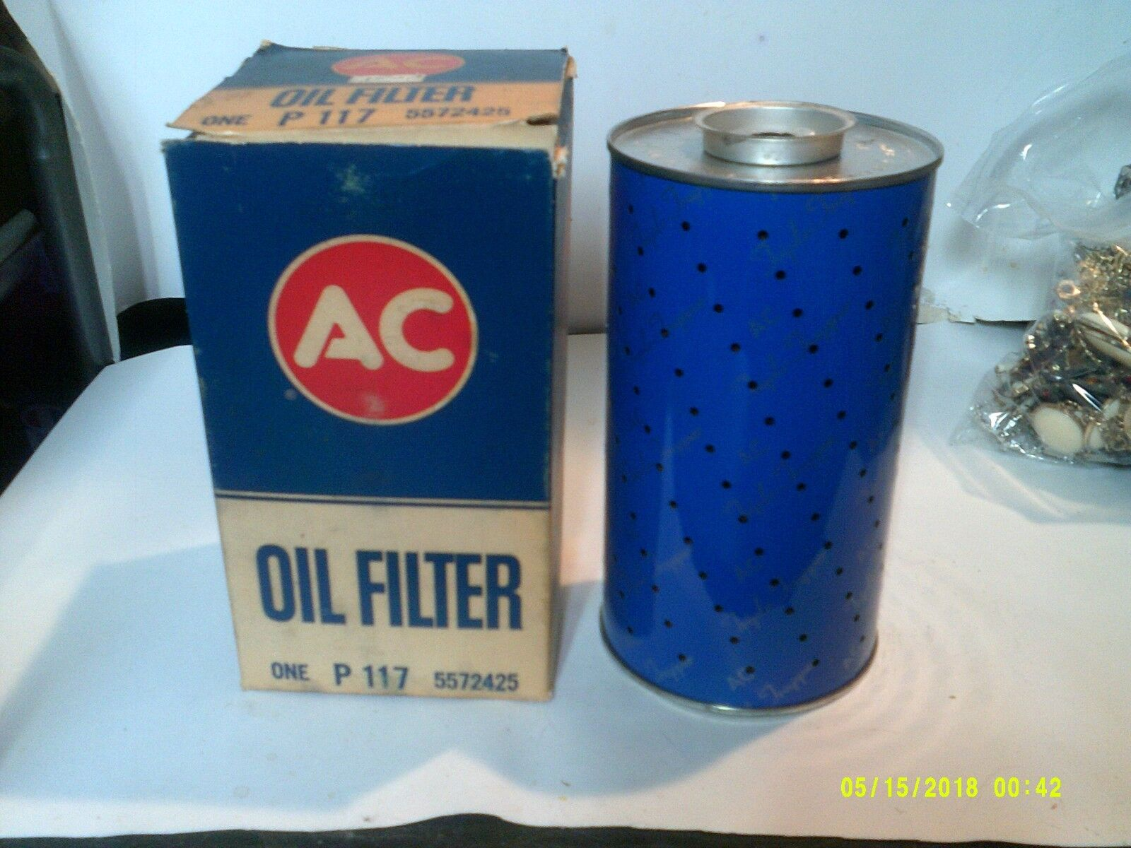 VINTAGE AC P117 OIL FILTER 5572425 NEW OLD STOCK