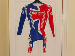 NEW-Team-GB-SKY-cycling-skin-suits-skinsuit-bike-shorts-Adidas-track-time-trial