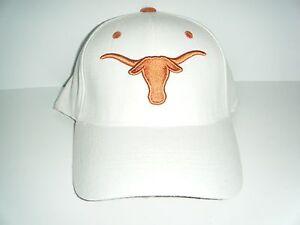 4dd683a2ada Texas Longhorns NWT White Stretch Fitted Size 6 5 8 - 7 1 8