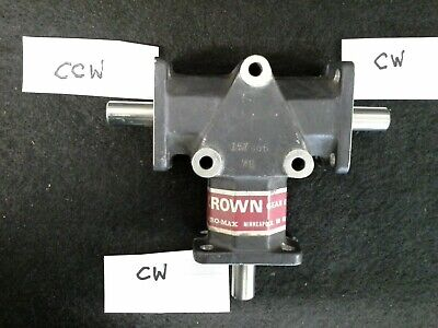 Crown Gear Drives 157806  3 Way Gear Drive Zero-Max, 1:1 Ratio, 1/2