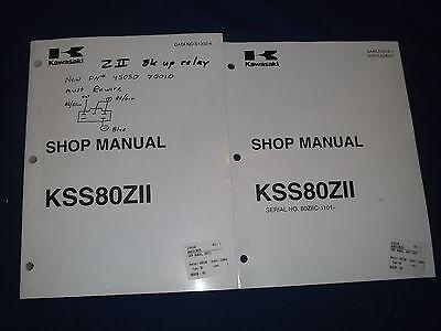 Kawasaki Kss80zii Wheel Loader Service Shop Repair Manual Book Sn 80ziic-1101-up