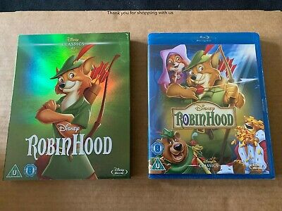 Robin Hood Blu ray NEW & SEALED with O Ring Slipcase Disney Classic #21