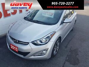2015 Hyundai Elantra GLS 6 SPEED MANUAL, SUNROOF, HEATED SEATS