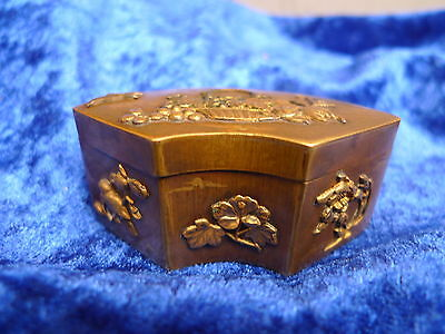 Beautiful, antique covered dish __ Brass ( O. Bronze)__ It's Nice Decorated __