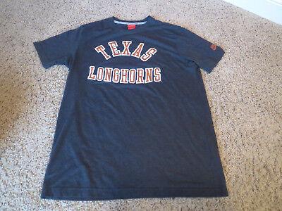 - Vintage Texas Longhorns red label swoosh NIKE charcoal gray HTF T-Shirt XL