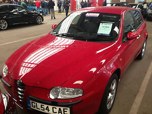 54 REG ALFA ROMEO 147 SELESPEED LUSSO FULL BLACK LEATHER, 1 OWNER ONLY 25K MILES