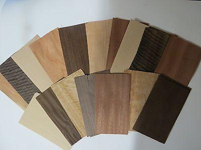 Colorful Mixed exotic & common  wood veneer  (ebony,  birdseye, burls, and etc.) ()