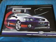 HUGE FPV BA BF FALCON FORD GT PRINT 950 mm x 650 mm Lockleys West Torrens Area Preview