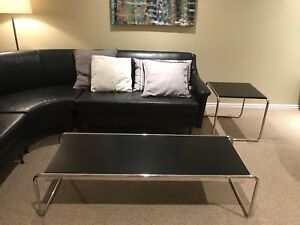 Modern coffee table and end table