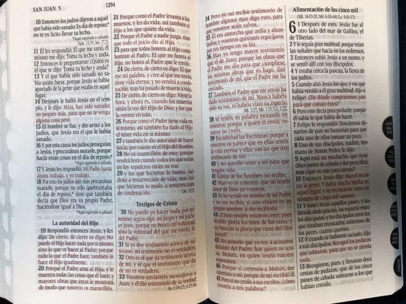 Bíblia De Letra Grande Reina Valera 1960 Chiusura Azul Índice Tamaño Manuale
