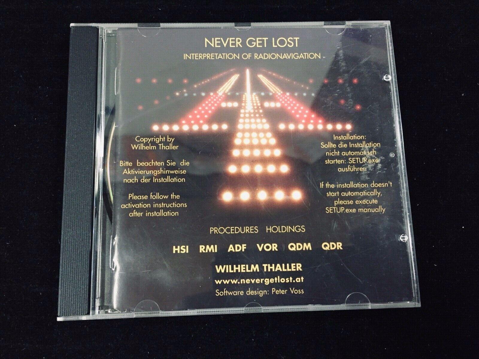 NEVER GET LOST SOFTWARE DVD, INTERPRETATION OF RADIO NAVIGATION, WILLIAM THALLER