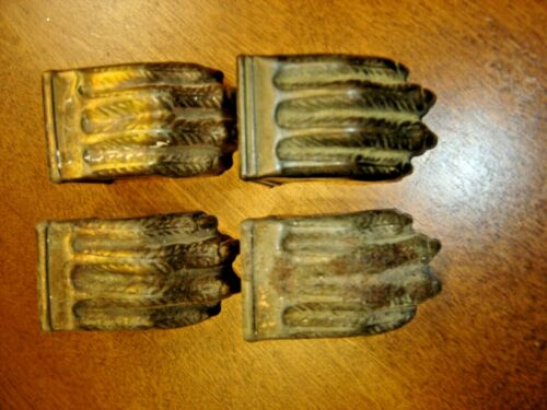 Salvage Set of 4 Brass Claw Feet for Duncan Phyfe Table     966