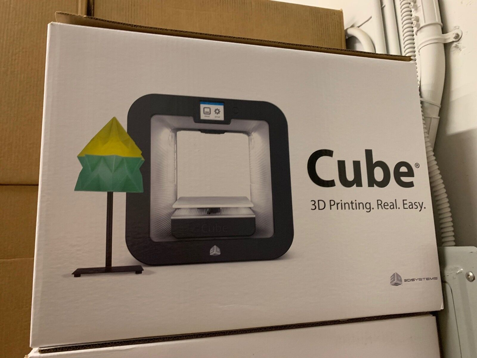 NEW 3D Systems Cube 3D Wireless Printer, 3rd Generation, Gre