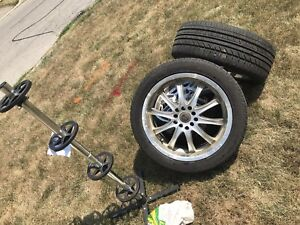 """17"""" rims and tires 225/45R17"""