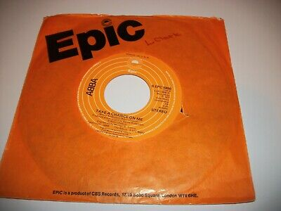 """ABBA- TAKE A CHANCE ON ME VINYL 7"""" 45RPM co"""