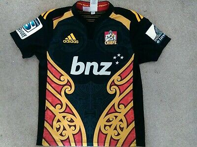 New Zealand Waikato Chiefs Rugby Union Adidas shirt  2014 Youth size 14 years