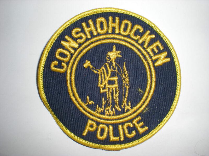 CONSHOHOCKEN, PENNSYLVANIA POLICE DEPARTMENT PATCH