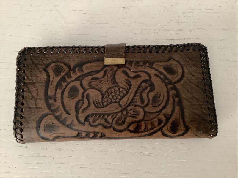 Vintage Joo-Kay Hand Tooled Leather Wallet
