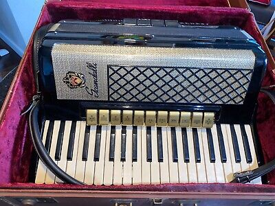 SCANDALLI ACCORDION 41/120 W/CASE MADE IN ITALY No 418/72