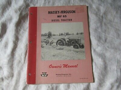 Massey Ferguson Mf65 Mf 65 Diesel Special Tractor Operators Manual