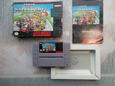 Jeu Super Nintendo / Snes Game Super Mario Kart Ntsc Complet original CIB *