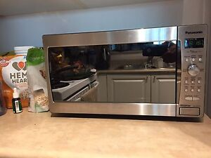 Gently used Panasonic Stainless steel finish microwave