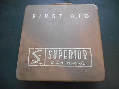 First Aid Kit - Metal Box w/ Original Supplies - Superior Coach