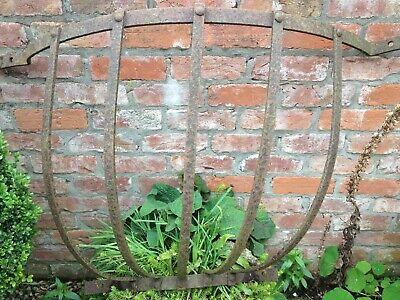 Antique cast iron hay rack.