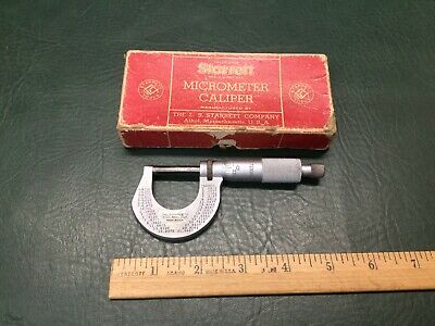 Vintage Starrett Micrometer T230rl 1 Machinist Tool In Original Box