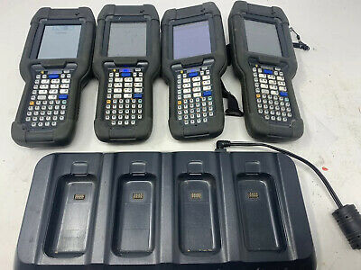 Lot Of 4 Intermec Ck3x Mobile Computer Scanner Wifi Bluetooth W Ac20 Charger Mw2