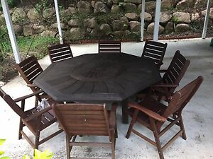 9 Piece Kwila Outdoor Setting PRICE DROPPED Albany Creek Brisbane North East Preview
