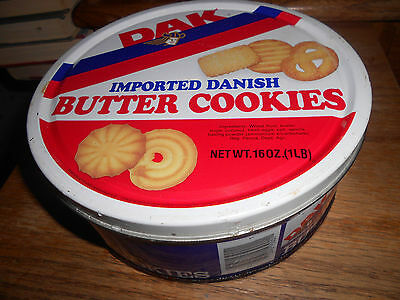 Dak Imported Danish Butter Cookies. Vintage Cookie Tin. Rare 16oz Tin. Nice