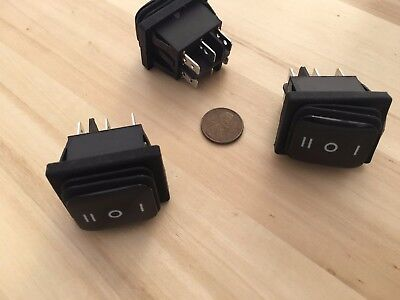 3 Pieces Waterproof 20 Amp Onoffon Rocker Switch 6 Pin 12v Dpdt C36