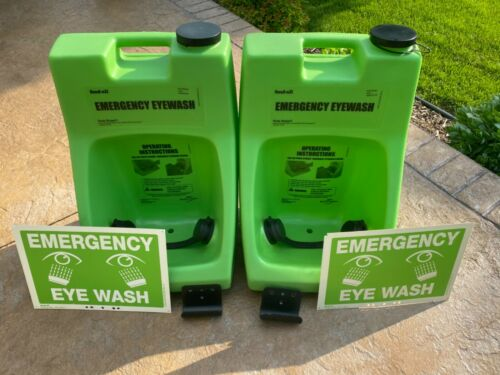 (1) Fendall Porta Stream 1 Portable Eyewash Station w/ Wall Mount & Sign