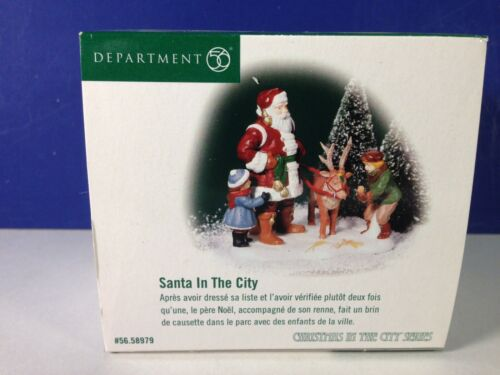 Dept 56 CIC Christmas in the City SANTA IN THE CITY 56.58979 Brand New! RARE!
