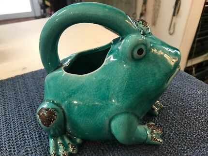 Ceramic Frog Watering Can NEW
