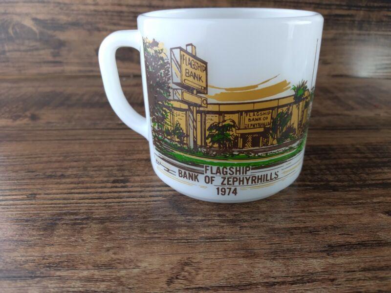 Vintage Bank Of Zephyrhills Florida Flagship Bank Coffee Mug 1949 1974