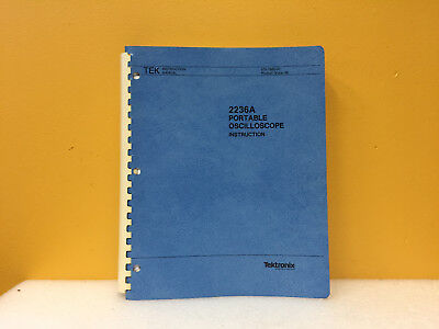 Tektronix 070-7685-00 2236a Portable Oscilloscope Instruction Manual