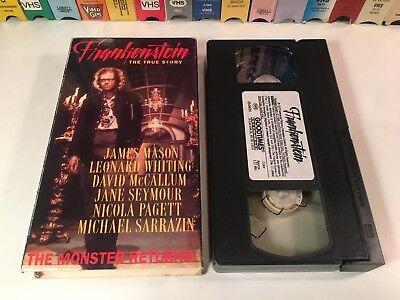 * Frankenstein The True Story 70's Horror VHS 1973 James Mason Leonard Whiting