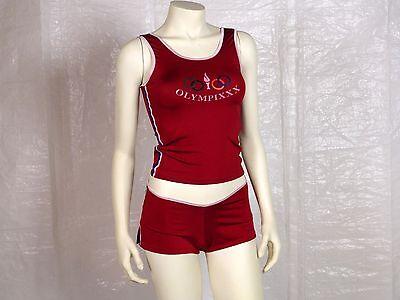 SEXY Naughty SPORT 2 Pc Red OLYMPIXXX Halloween COSTUME SET Ladies Size MEDIUM](Sports Halloween Costume)