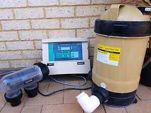 Hurlcon salt chlorinator, vx7t control box, davey ec750 filter Gosnells Gosnells Area Preview