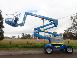 11/12 GENIE BOOM Z60/34 66FT ALL TERRAIN BOOM SCISSOR LIFT ELEVATED WORK PLATFORM EWP JLG Austral Liverpool Area Preview