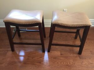 Counter height stools with  studs like new