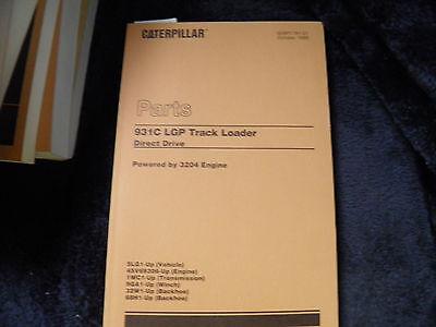 Cat Caterpillar 931c Lgp Track Loader Parts Book 5lg1-up Sebp1781