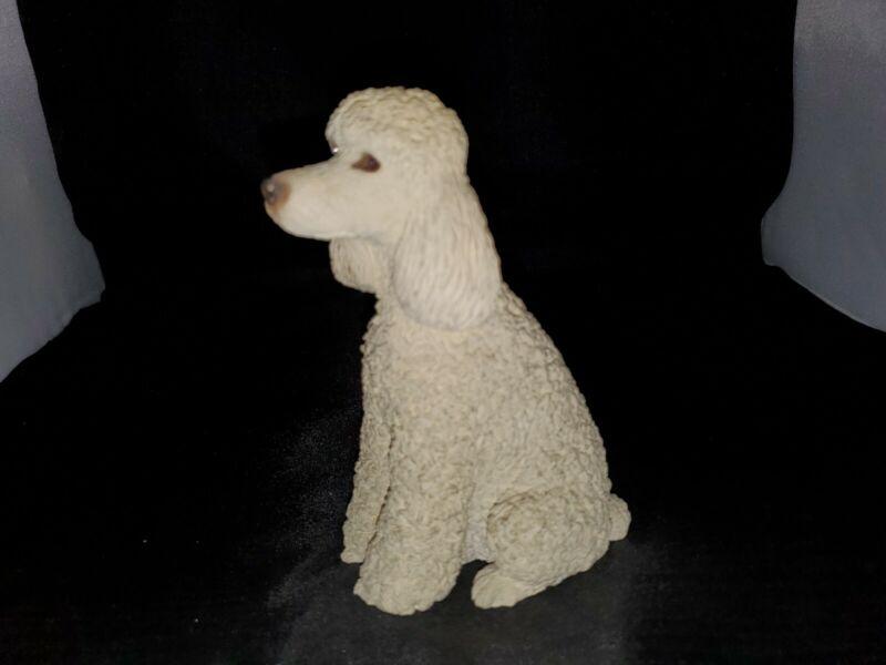 Sandicast White Poodle Sitting Figurine