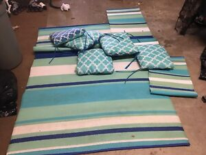 Patio Mat and cushions