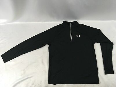 Under Armour Men 1 4 Zip Lightweight Fitted Pullover Sweater Jacket Black Size L