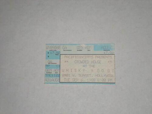 Crowded House Neil Finn Ticket Stub-1988-Whisky a Go Go-West Hollywood,CA