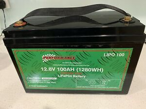 performance 12V 100ah Lithium LiFePo4 Deep Cycle Battery caravan 4x4 Valley View Salisbury Area Preview